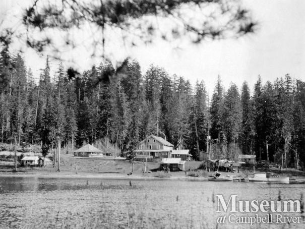 Forbes Landing Lodge viewed from Lower Campbell Lake