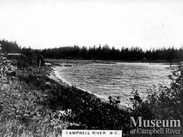 View of the Campbell River Spit, c. 1920