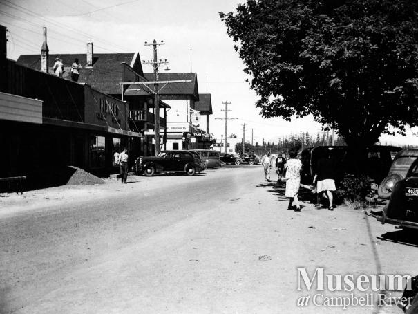 View of downtown Campbell River, 1940s