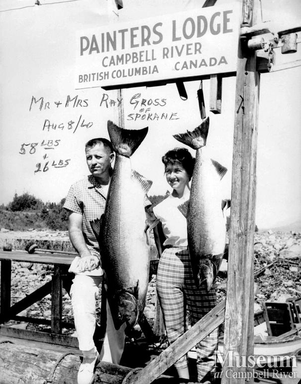 R. Gross with his catch