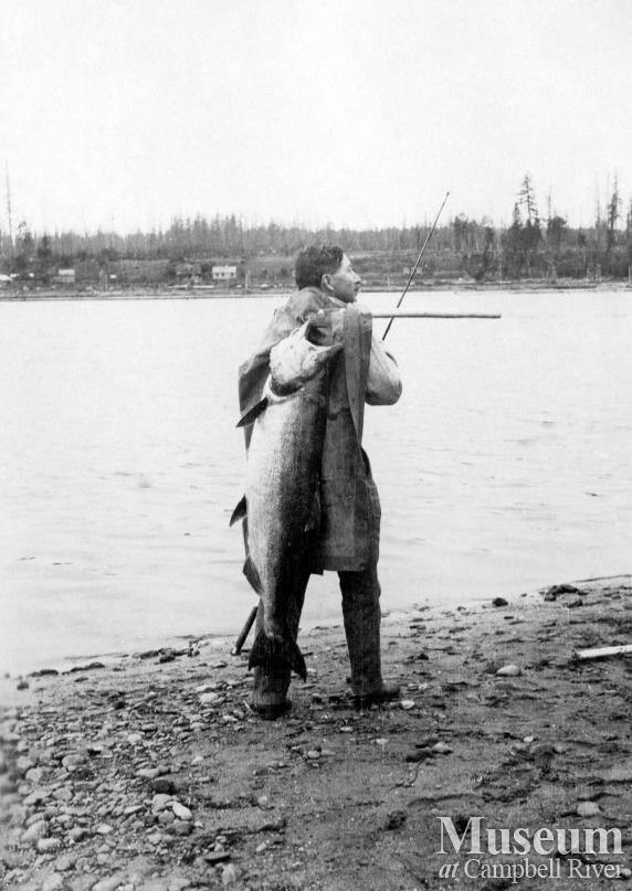 Dr. Wiborn with a salmon