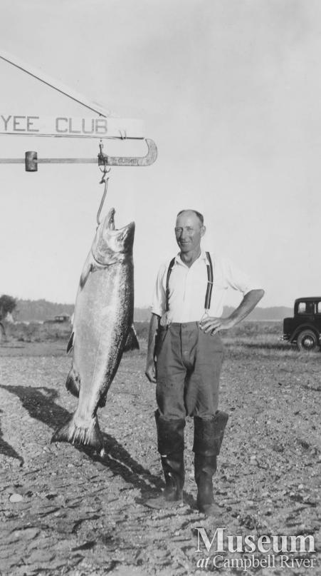 Herbert Pidcock with a salmon