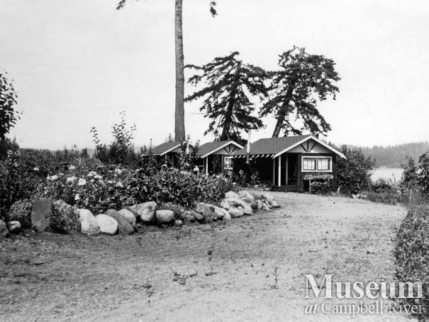 View of the cabins at Painter's Lodge, Campbell River