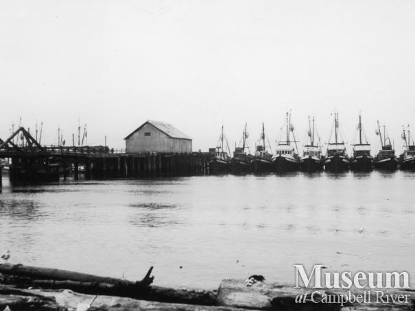 Commercial fishing boats at Campbell River wharf