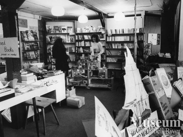 Interior of Page 11 Books, Campbell River