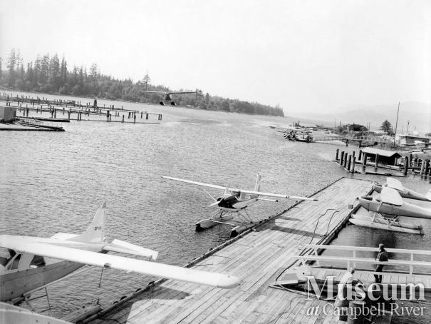 Seaplane base at the mouth of the Campbell River