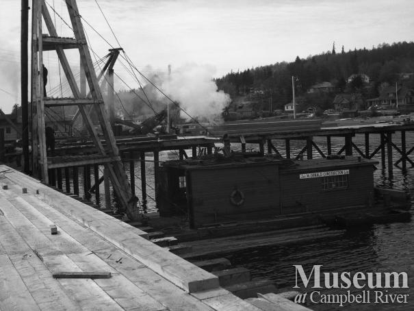 Construction at Campbell River's government wharf