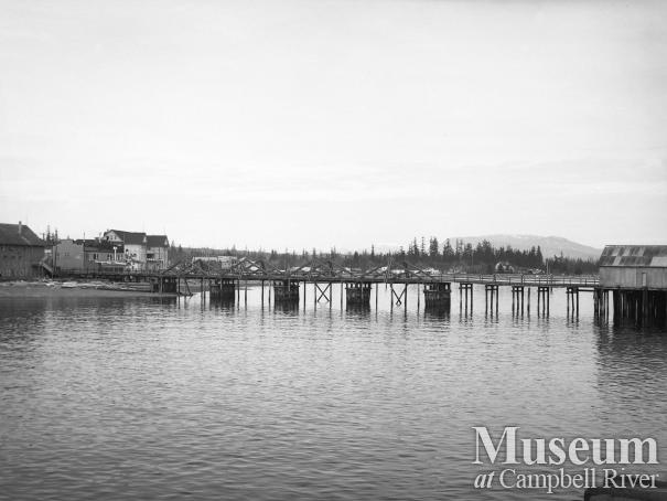 Campbell River's waterfront and wharf