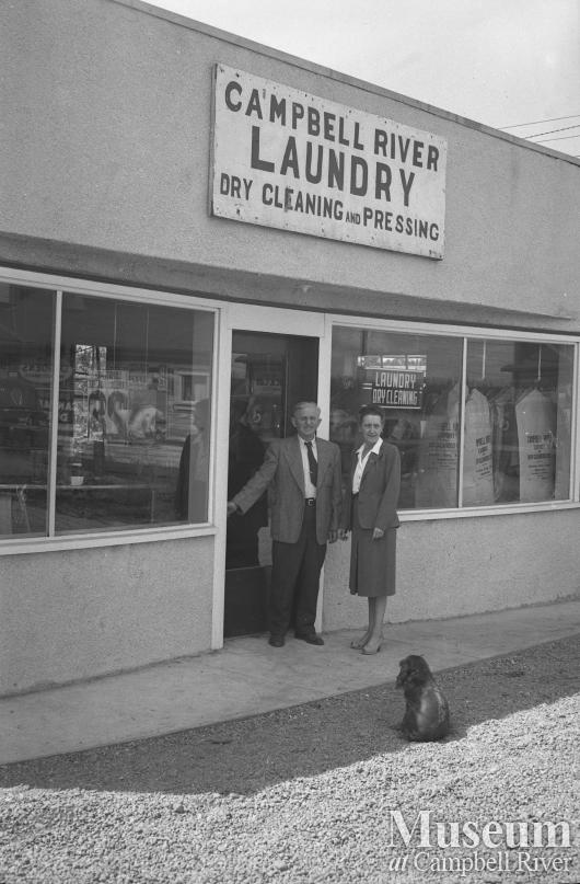 Store front of Campbell River Laundry