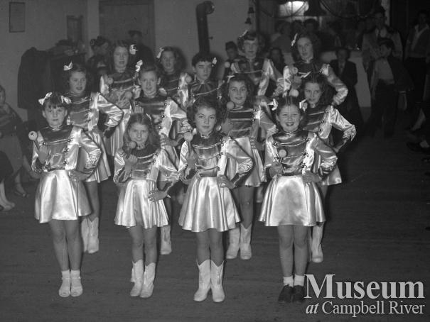 Group of young baton twirlers, Campbell River