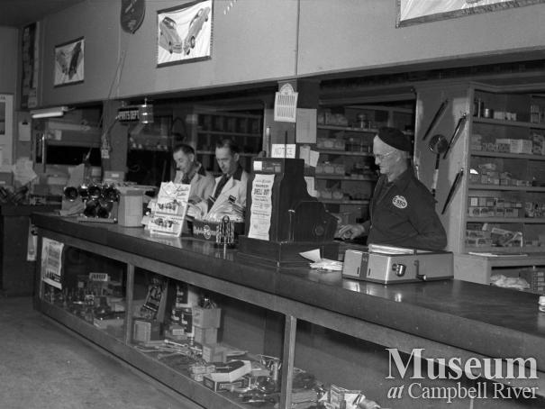 Parts counter at Campbell River Garage Ltd