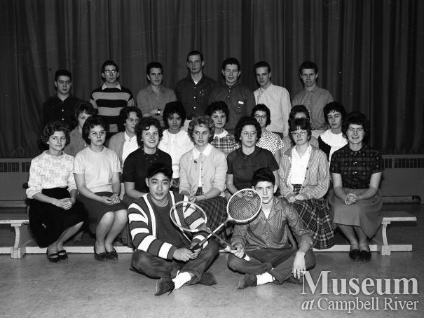 Campbell River High School badminton Team