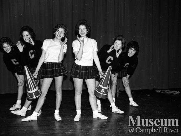 Group of Campbell River High School cheerleaders
