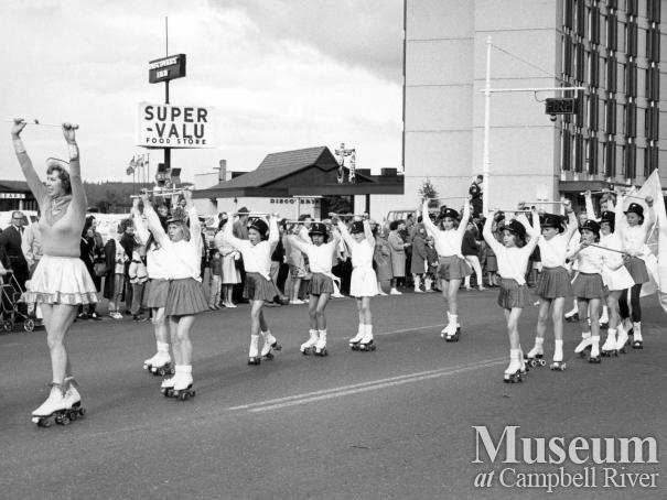 The Roller Follies in the Spring Fair Parade
