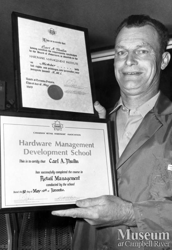 Carl 'Tubby' Thulin of Pioneer Hardware