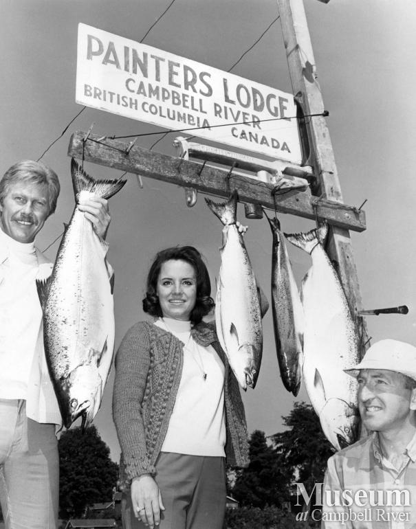 Mr. and Mrs. Harvey Presnell with catch