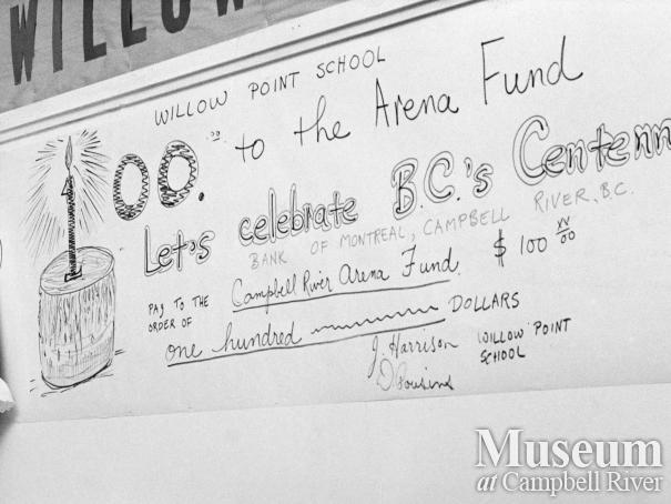 Willow Point Elementary donates to Arena Fund