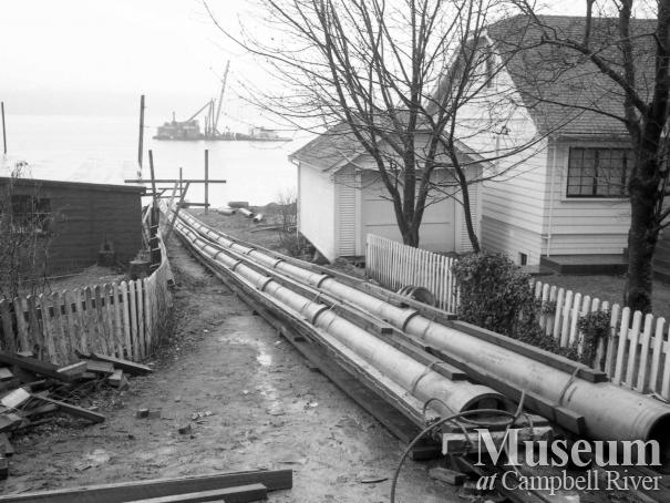 Laying new sewer pipes